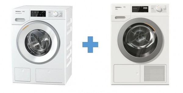 Set angebot: miele waschmaschine wwe600 60ch trockner tcf600