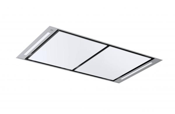 V zug deckenlüfter dsdsr12 breite 120 cm abluft design whiteglass